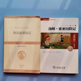 经典名著 大家名译:汤姆·索亚历险记(无障碍阅读 全译本 素质版)+鲁兵逊漂流记 两本合售