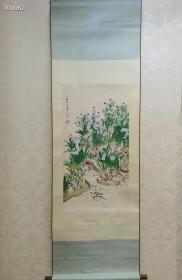 民间收福建郑乃珖水仙图立轴  画芯:44x90cm