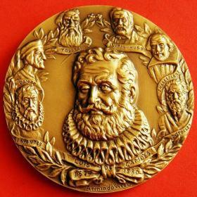 作家莎士比亚、但丁、托尔斯泰、卡蒙斯、塞万提斯肖像大铜章