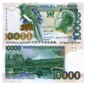 全新UNC圣多美和普林西比2013年10000多布拉纸币P-66d