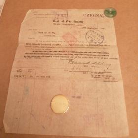 民国1942年 美国支票