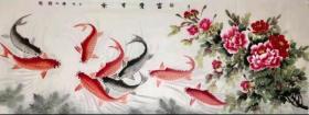 国家一级美术师韩普俊手绘真迹!  小六尺富贵有余