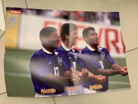 德国足球海报 1994世界杯巴西球星罗马里奥