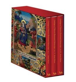 海外仓发货 Western Illuminated Manuscripts 西方绘画插图手稿 3本精装带函盒 收藏佳品 大开本 近10公斤 非常精美