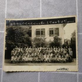 老照片:1965年西南师范学院附属幼儿园第十三届毕业儿童留影(北碚留春摄)