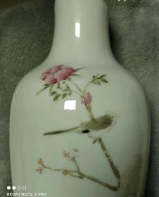 九昌出品结婚纪念花鸟瓶(残器)-154962