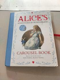 ALICE'S ADVENTURES IN WONDERLAND CAROUSEL BOOK:爱丽丝梦游仙境旋转木马图书