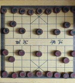 八十年代木器,象棋,纯手工木雕