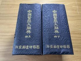 民国22年国难后第一版,中国医学大辞典,32开精装两巨厚册一套全,品相极好,厚达7.2公分