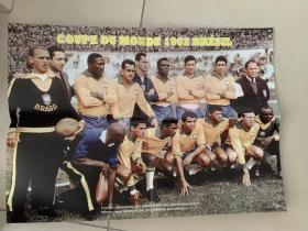 足球海报  1962世界杯 巴西/加林查