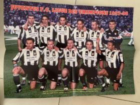 足球海报  1998欧冠 尤文图斯/皮耶罗