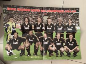 足球海报  2000欧冠 皇家马德里/雷东多