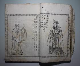 清光绪年鸿文书局石印本《增像全图三国演义》第一册《绣像》,著名插图本