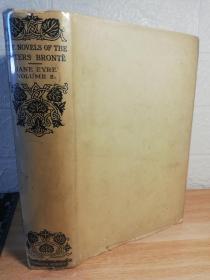 1924年  JANE EYRE   简爱    上书口刷绿色  两侧书口毛边   字体较大适合阅读  一本全