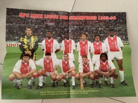足球海报  1996欧冠 阿贾克斯/利特曼宁