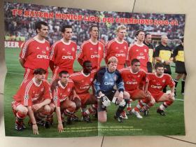 足球海报  2001欧冠 拜仁慕尼黑/卡恩