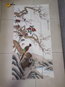 陈佩秋,手绘,花鸟图
