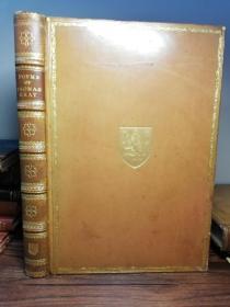 1887年  POEMS BY THOMAS GRAY   插图版  定制版   全皮装帧  三面刷金  27.7X19.5CM