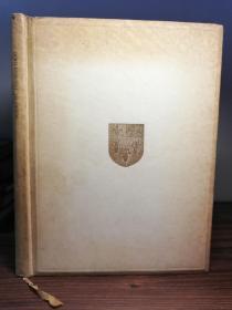 1937年  Poems by Thomas Gray《托马斯格雷诗选》伊顿公学定制手工装帧牍皮纸封面毛边本  书顶刷金  26X19.8CM