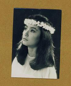 林青霞早期台湾版经典黑白5寸老照片 好品相