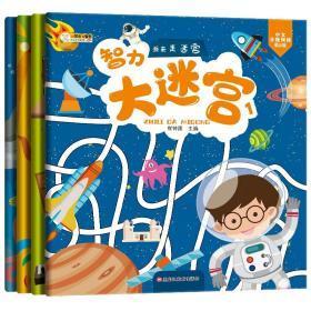 全新正版智力大迷宫书 全套4册 儿童3-4-5-6岁宝宝最简单好玩的益智走迷宫冒险专注力思维训练绘本益智动脑幼儿园趣味烧脑玩具幼儿书籍