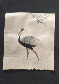 日本回流字画手绘名家画稿仙鹤图软片D3375