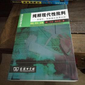 现代性研究译丛:  纯粹现代性批判:黑格尔、海德格尔及其以后