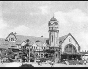 上世纪20年代日本人拍照的的丹东新义州及鸭绿江风情照片和济南德式老火车站照片15张5吋的hw