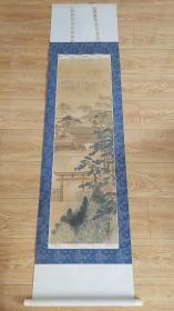 日本回流字画挂轴宫殿图