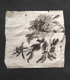日本回流字画手绘花卉图软片D3386