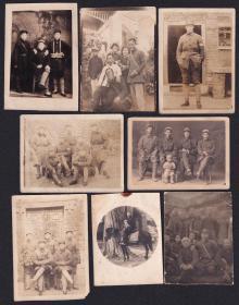 民国年代抗日义勇军干部老照片27张(尺寸约3.4*3.3-6.9*12.3厘米)1613