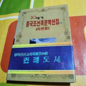 二十世纪中国朝鲜族文学作品  诗选集   (朝鲜文)  精装