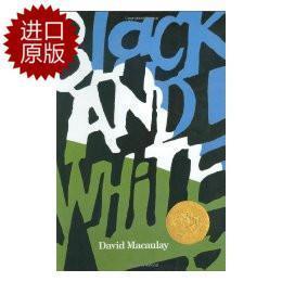 英文原版Black and White黑色和白色 凯迪克大奖绘本