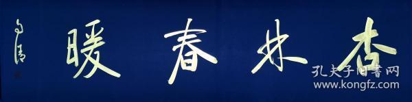 【全网独家授权代理】中书协会员、书法名家赵自清四字吉语:杏林春暖