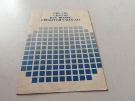 CKB-101  CKB-102  KEY  BOARD  OPERATOR'S   MANUAL