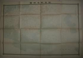 1915年老地图《欧亚战局精图》79x54cm