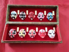 中国脸谱泥塑(一盒10个)