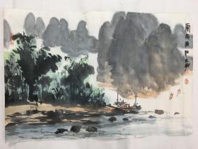 画家阳太阳作品山水一幅尺寸68×46