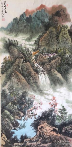 【来自作者本人,保证真迹】苏州市常熟市美协会员陆雪峰手绘 ! 源远流长