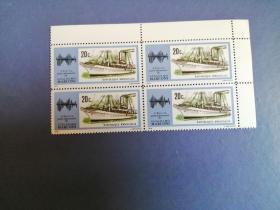 外国邮票  卢旺达邮票1974年 轮船  4方联 (无邮戳新票)