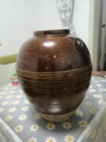 罕见的陶罐双色釉,釉色华丽难得