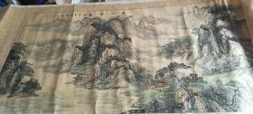 保真!海派书画名家孔凡兴辛卯年,手绘精品之作《春山鸣泉时》巨幅山水图,已装裱,尺寸:186*82.5厘米,具体品相品看图, 1200包邮。