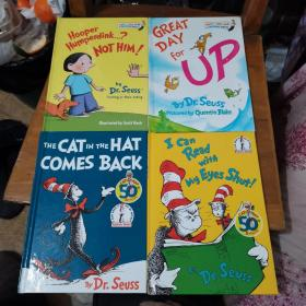 I Can Read With My Eyes Shut! + GREAT DAY for UP + THE CAT ⅠN THE HAT COMES BACK + Hooper HumperdinK…?NOT HⅠM!(内页干净,精装,四本合售)