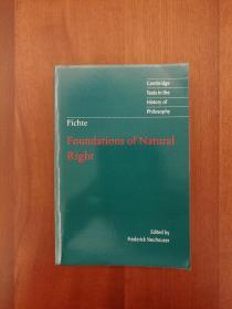 Fichte: Foundations of Natural Right(进口原版,国内现货)