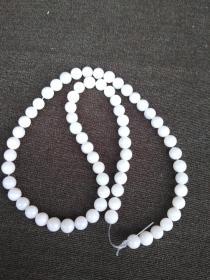 天然白贝项链珠一串