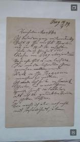 【罕见遗珍!】捷克世界级音乐大师安东尼·德沃夏克(ANTONIN DVORAK)1879年9月14日亲手写给他恩师勃拉姆斯(BRAHMS)三页(PRAHA 1879.9.14),未著录十卷本《德沃夏克书信集》