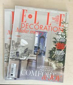 英文 ELLE DECORATION 住宅装饰2020年12月 英国室内装修设计杂志