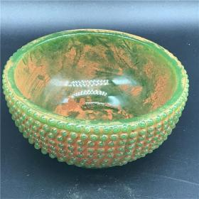 古玩玉器杂项老玉高古玉战汉仿古摆件挂件把件老物件旧货琉璃玉碗