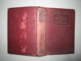 1937年外文原版:ROGET'S THESAURUS OF ENGLISH WORDS AND PHRASES罗格的英语词汇词典32开布面精装