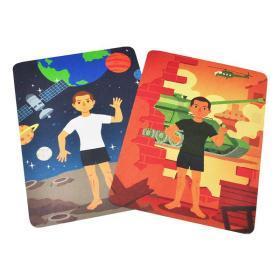 正版全新磁力变身贴纸游戏盒 职业 3-4-5-6岁儿童益智全脑开发贴纸游戏书思维逻辑专注力训练书 儿童益智书籍智力潜能开发幼儿趣味小手工